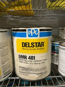 Ppg Refinish Delstar 1 Gallon Indo Yellow Paint Tint Toner Dmr481