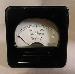 Vintage Triplett Model 227 t 0 300 Dc Ma 2 3 8 Square Panel Meter