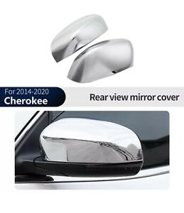 Chrome Silver Rearview Side Mirror Cover Trim For Jeep Grand Cherokee 2014 2020