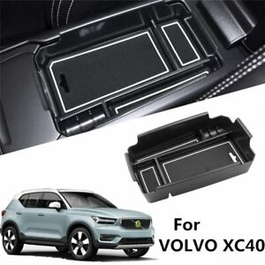 Car Central Armrest Storage Box For Volvo Xc40 2018 2019 2020 With Silicone Pad