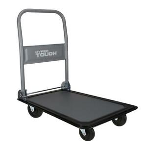 Heavy Duty Folding Platform Dolly Cart Portable Wheels Trolley Push Behind Mover