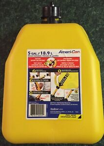 Scepter Ameri can Yellow 5 Gallon Diesel Fuel Storage Tank Container Jerry Can