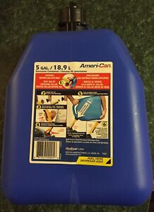 Scepter Ameri can Blue 5 Gallon Kerosene Fuel Storage Tank Container Jerry Can