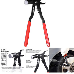 Firstinfo Coated Wheel Balance Weight Plier Hammer Tool Tire Weight Removal T