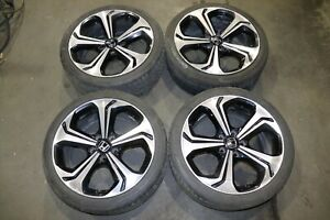 2014 2015 Honda Civic Si 18 X7 5 Cnc Dark Tint Black Oem Wheels Rims Enkei