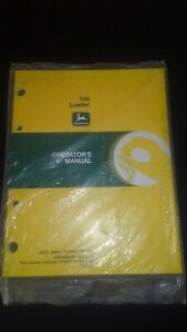 740 John Deere Front End Loader Operators Manual