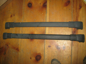 2003 2008 Subaru Forester Oem Roof Rack Cross Bars Rails Cargo Pair Oem