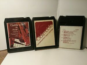3 Lot 1970s Cadillac And Oldsmobile 8 Track Demo Audio Tapes In Good Condition