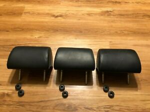 Bmw E34 Touring Wagon Headrests For Rear Seats Leather Black Full Set 530 Oem M5