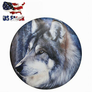 Spare Tire Tyre Cover 15inch Wolf Pvc Wheel Cover For Jeep Trailer Rv Suv