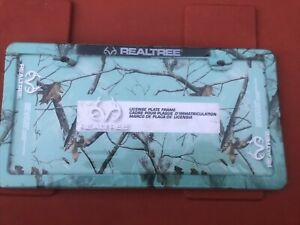 Realtree License Plate Frame Mint Camo Truck Car Outdoor New