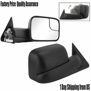 L R For 1994 2001 Dodge Ram 1500 1994 2002 2500 3500 Flip Up Manual Tow Mirrors