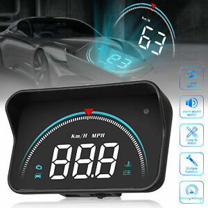 Car Digital Obd2 Speedometer Head Up Display Overspeed Km H Tired Warning Alarm