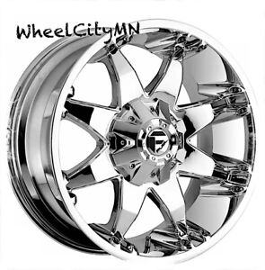 20 X9 Chrome Fuel D508 Octane Wheels Fits Gmc Sierra 1500 Denali 6x5 5 20 4x