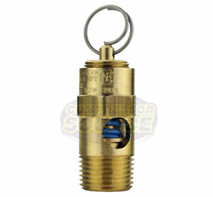 225 Psi 3 8 Male Npt Air Compressor Safety Relief Pop Off Valve Solid Brass New
