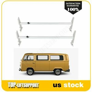 Adjustable Roof Ladder Rack Van 2 Bar For Chevy Dodge Ford Gmc Express 500lbs