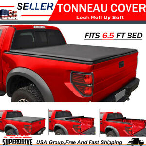 For 2007 2013 Chevy Silverado 6 5 Ft Bed Cover Lock Roll Up Soft Tonneau Cover