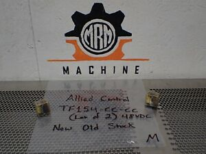 Allied Control Tf154 cc cc 48vdc 2500ohms Relays 14 Blade New No Box lot Of 2