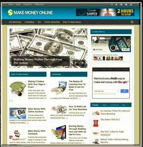 Ready Made Blog make Money Online Niche Ready For Multiple Income Streams