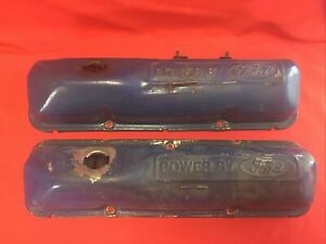 Original Power By Ford Valve Fe Covers 352 360 390 406 427 428 No Rust Or Dings