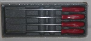 New Snap On Pick Set Long Shaft Asal204br Red Hard Handles New Sealed