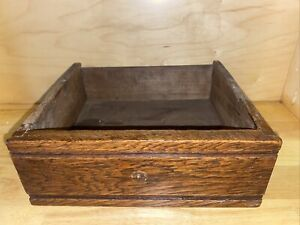 Vintage Antique Handmade Old Wooden Desk Drawer With Metal Handle Box Crate