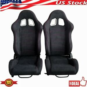 A Pair Universal Reclinable Left right Racing Seats 2 Track Racing Bucket Seats