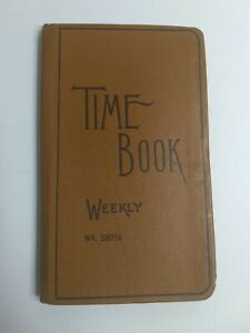 Vintage Boorum Pease Weekly Time Book Record Keeper