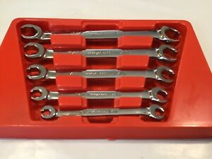 Snap On Rxfs605b 5pc 6pt Sae Double Flare Nut Line Wrench Set W Tray Free Ship