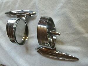 Antique Vintage Ford Chrome Side Mirrors Pair For Hot Rod Rat Rod Classic