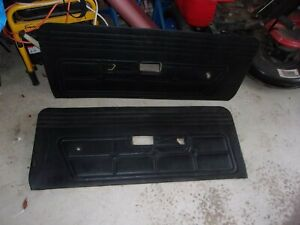 1971 1973 Ford Mustang Mach1 Door Panels Right And Left Side Black
