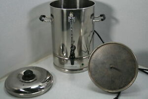 See Notes Commercial Grade Stainless Percolate Coffee Maker Hot Water Urn