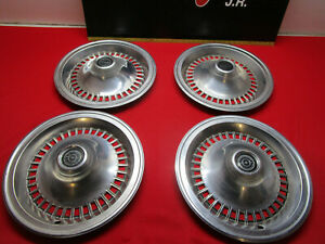 1977 1978 1979 Ford Thunderbird 15 Hubcap Wheel Cover Set Of 4