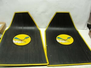 2 Vintage 1960 70 s Plymouth Road Runner Car Front Floor Mats
