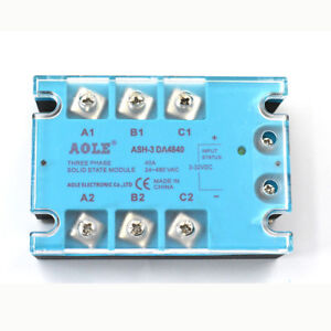 Ash 3 da4840 Three Phase Solid State Relay Module Dc To Ac 3 32vdcto480vac40a kd