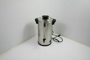 Sybo Rcm016s 8b Commercial Grade Stainless Steel Percolate Coffee Maker Metallic