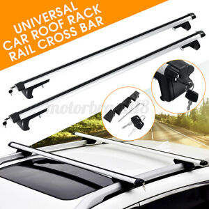 49 Aluminum Universal Car Roof Top Cross Bar Luggage Carrier Rack W Lock Keys