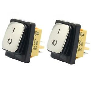 Waterproof Rocker Switch Stainless Steel Surface 30a 220v Led 4pin Ip67 On off