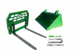 John Deere Jd 66 Smooth Bucket And 48 Pallet Forks Combo Local Pickup