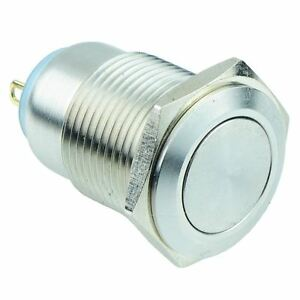 On off 16mm Metal Push Button Switch Spst Ip67