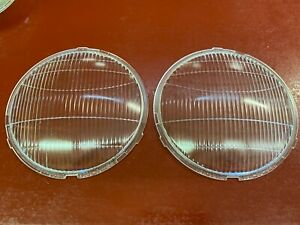 1932 1933 1934 Ford V8 B4 Car Truck Headlight Lens Pair Nors