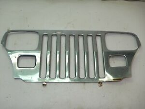 Jeep Wrangler Yj 87 95 Chrome Front Grille Grill Cover