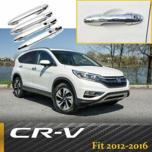 8pcs For Honda Crv Cr v 2012 2016 Chrome Door Handle Cover Trims W Smart Hole