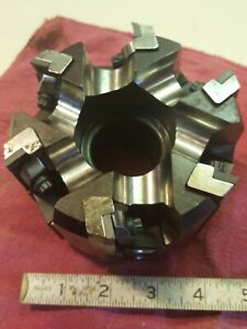 4 5 Valenite Indexable Face Mill Cutter 1 5 Arbor 6 Position New Old Stock