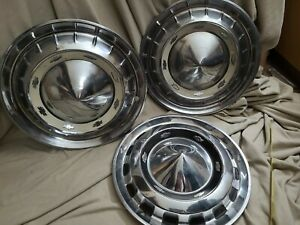 Vintage Chevrolet Hubcaps Lot Of 3