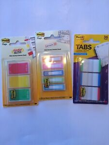 Post it Tape Flags Tabs Lot Of 3 60 Prioritize 100 Writable 36 Tabs