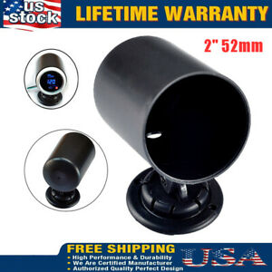 2 52mm Universal Single Gauge Holder Swivel Mount Meter Pod Cup Us
