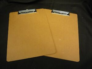 Clipboard With Flat Clip 16508 Bussiness Source Hardboard Brown Lot Of 2