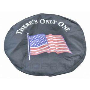 Jeep Wrangler Liberty 82209947ab American Flag Logo Spare Tire Cover