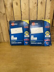 2 New Avery 5160 Easy Peel Address Labels white 1 X 2 5 8 6000 Labels sealed